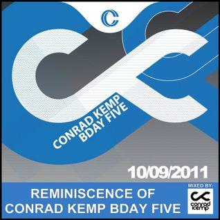 Conrad Kemp - Reminiscence of Conrad Kemp Bday Five @ Czekolada Chorzow