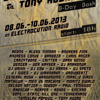 DJ Anakonda @ DJCrazyTBone´s & Tony Kudro´s B-Day Bash 08.06.2013