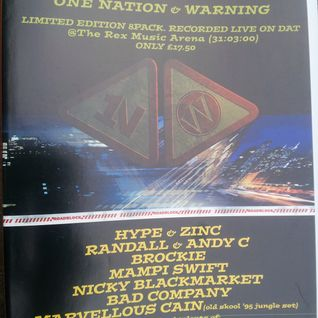 Nicky Blackmarket with Fearless, Skibadee, Shabba & IC3 at One Nation & Warning (March 2000)