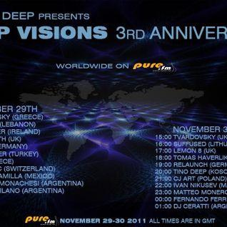 Tino Deep - Deep Visions 3-Year Anniversary [November 30, 2011] On Pure.Fm