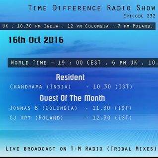CJ Art - Time Difference Guest Mix [16.10.2016] on T-M Radio