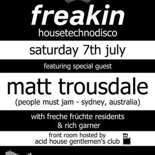 Matt Trousdale live at Freakin, UK 7th July 2012