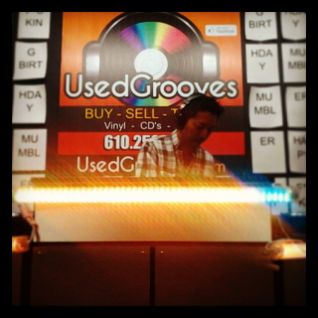 Birthday mix in-store at Used Grooves, 1 Feb 2014.