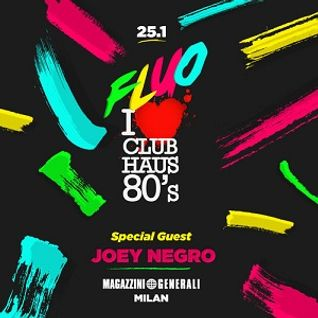 Joey Negro @ Club Haus 80's Fluo (at Magazzini Generali), Milan - 25.01.2013