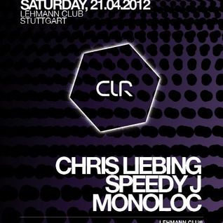 Collabs aka Speedy J & Chris Liebing @ CLR Residency, Lehmann Club - Stuttgart (21.04.2012)