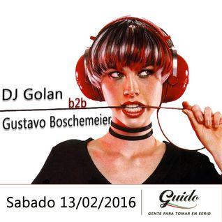DJ Golan b2b Gustavo Boschemeier @ Guido (13-02-2016)