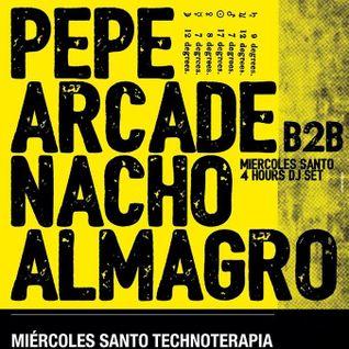 Pepe Arcade b2b. Nacho Almagro at El Barbero (23.03.16)