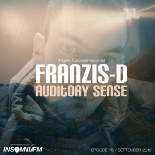 Franzis-D - Auditory Sense 075 @ InsomniaFm - Sep 10, 2015