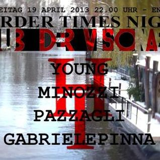 2013.04.19 Young & Gabriele Pinna B2B @ Club Der Visionaere, Berlin - Harder Times Night Last Hour