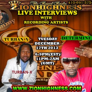 DETERMINE'S LIVE INTERVIEW WITH DJ JAMMY ON ZIONHIGNESS RADIO ON 12-17-19