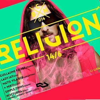 Religion 003 party Barcelona (1406) live mix by Lady Jay
