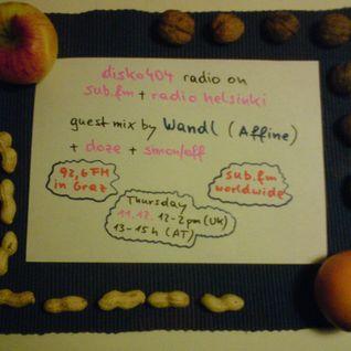 SUB FM / Radio Helsinki - disko404 radio - Wandl & doze b2b Simon/off - 11/12/14
