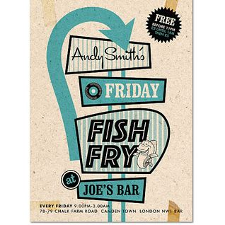 Andy Smith's Fish Fry Every Friday @ Joe's Bar, Camden, LDN