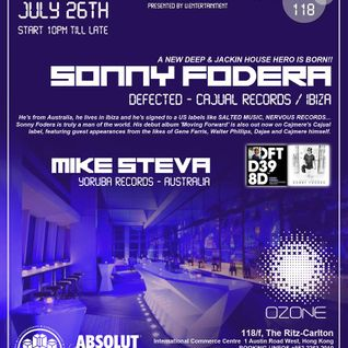 Sonny Fodera, Mike Steva, Hallex M LIVE @ Ozone, Hong Kong (July 26th)