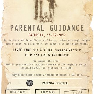 theloveaffair @ The Vault (Parental Guidance 14.07.2012)