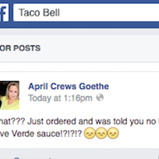 FaceBook Visitor Posts: Taco Bell Beef!