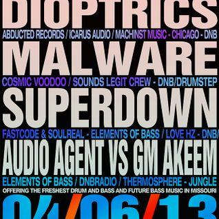 Audio Agent vs GM Akeem - Live @ Bass & Bliss - 04/06/13
