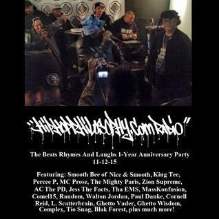 Beats Rhymes And Laughs 1-Year Anniversary Party 11-12-15