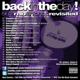BackInTheDay! 90's Anthems Volume 15