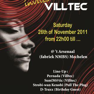 Strobi-wan Kenobi plays @ Pull the Plug invites Villtec ('t Arsenaal Mechelen) - 26.11.2011
