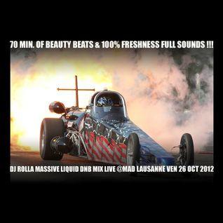 DJ Rolla - heavy liquid drum'n'bass - live @MAD club - Lausanne october 2012