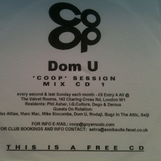 Dom U - Co-Op Session, Mix CD 1