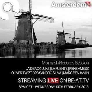 Oliver Twizt b2b Sandro Silva - Live @ Amsterdam Studio, Mixmash - 13.02.2013