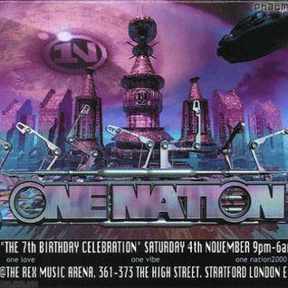 Ed Rush One Nation 'The 7th Birthday Celebration' 4th Nov 2000