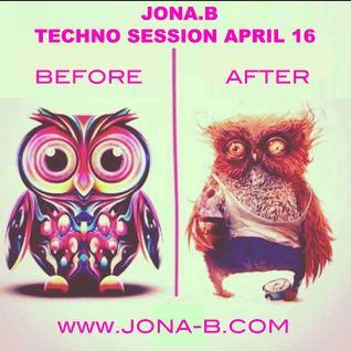 JONA.B LIVE MIX ( TECHNO SESSION ) APRIL 2016