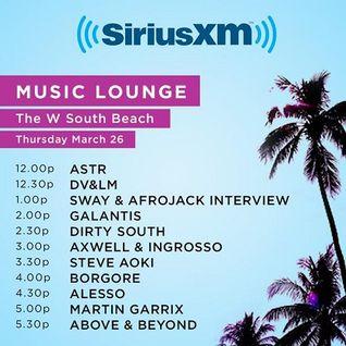 Afrojack & Sway - Live @ SXM Music Lounge, Miami Music Week - 26.03.2015