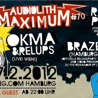 Audilith Maximum #70 Djset @ Hafenklang 17.2.12 Part 1