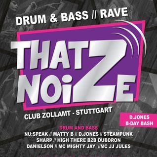 DJ Steampunk & MC J J Jules @ Thatz Noize (22-02-2014)