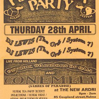 DJ Lewis at Herbal Tea Party Manchester 28th April 1994.