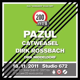 Pazul DJ Set @ 200 Club, Nov 18, 2011, Studio 672, Cologne