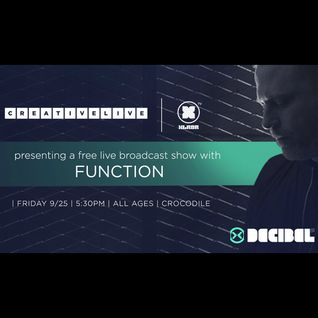 2015-09-25 - Function @ Decibel Live Broadcast Show, The Crocodile, Seattle