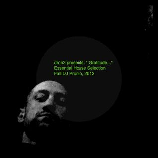 "dron3 presents: "" Gratitude..."" Essential House Selection Fall DJ Promo 2012"