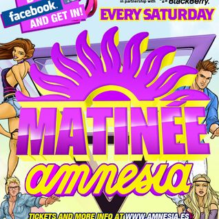 Matinée with Andre Vicenzzo at Amnesia Ibiza August 14th 2011