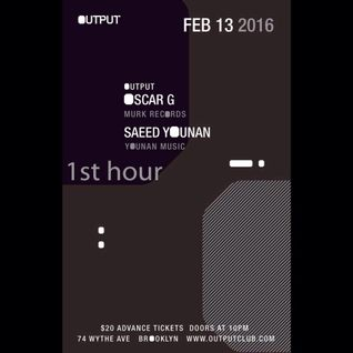 Saeed Younan LIVE at OUTPUT New York (Part 1 or 3)