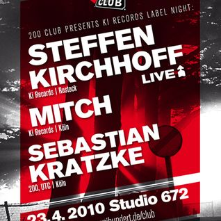 Mitch DJ Set @ Ki Records Label Night, April 23, 2010, 200 Club, Studio 672, Cologne