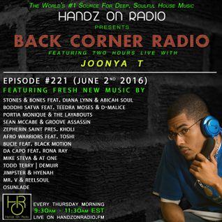 BACK CORNER RADIO: Episode #221 (June 2nd 2016)