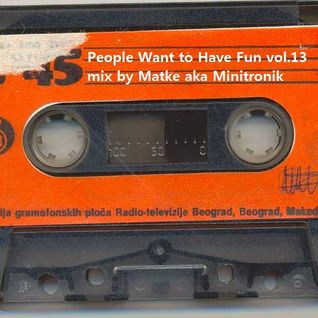 People Want to Have Fun Vol.13 - mix by Matke aka Minitronik