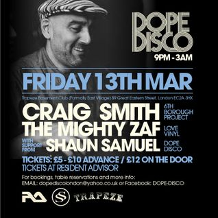 DOPE DISCO - PROMO MIX DJ SHAUN SAMUEL - MARCH 2015