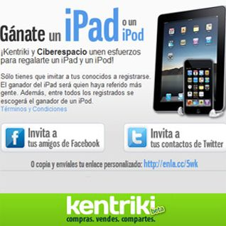 Gánate un iPad en Kentriki!!!