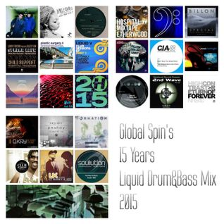 Global Spin's 15 Years of Liquid Drum&Bass Mix 2015