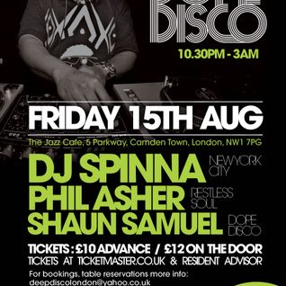 DJ SPINNA - Exclusive Mix for DOPE DISCO - Aug 2014
