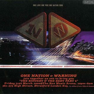 Nicky Blackmarket w/ Fearless, Skibadee & Shabba - One Nation/Warning - 31.3.00