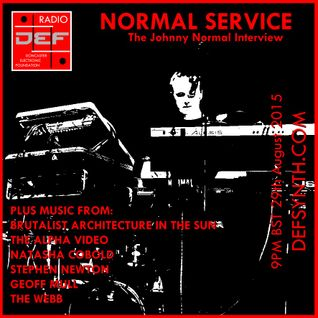 Doncaster Electronic Foundation Radio 28th Sept 2015 - Normal Service: The Johnny Normal Interview