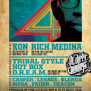 KON x RICH MEDINA - Live at Ol' Dirty Sundays 4 Year Anniversary - 5.24.15