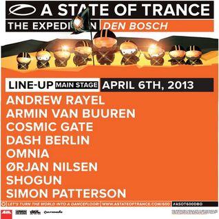 Orjan Nilsen - Live @ A State of Trance 600 Den Bosch - 06.04.2013