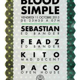 Jackin' live @ Blood Simple Party, Showcase Paris, 11/10/13, with SebastiAn & Dj Feadz